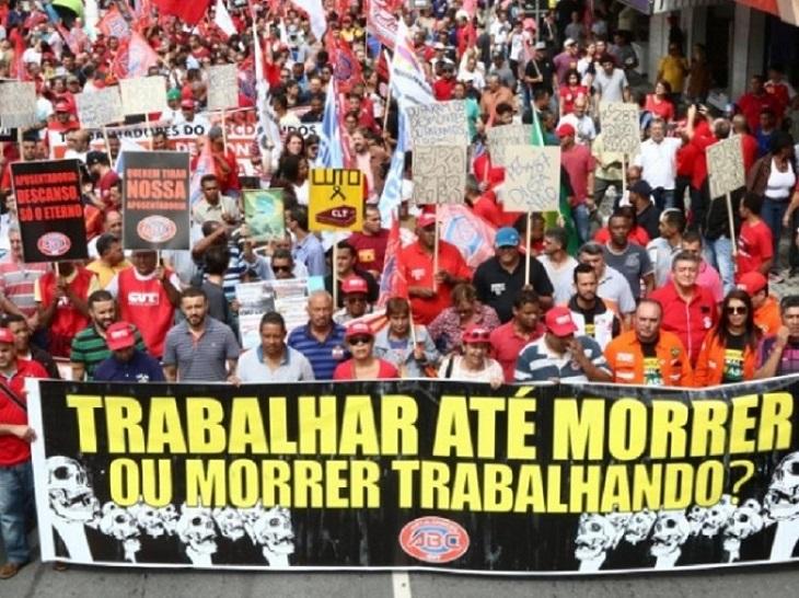 12 DE JULHO   Dia Nacional de Mobilização contra a reforma da Previdência