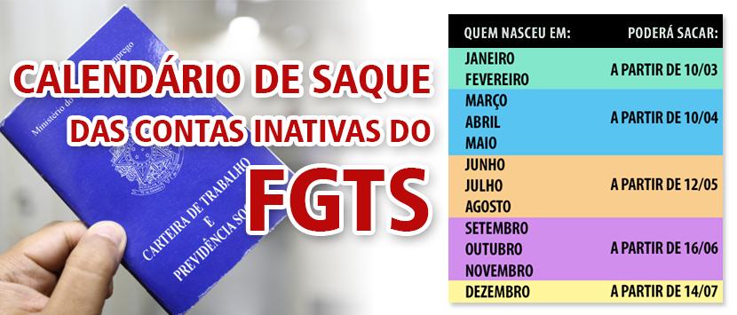 Contas inativas do FGTS