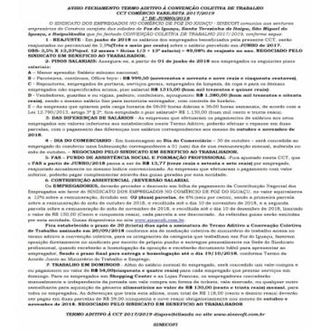 AVISO FECHAMENTO CCT VAREJISTA FOZ 2018/2019