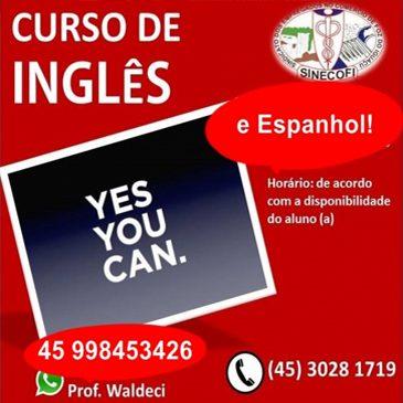 Inglês ou Espanhol? Inscrições abertas no SINECOFI
