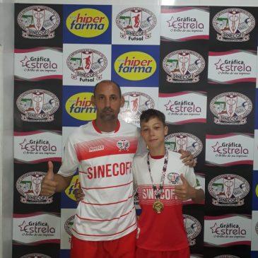 Atleta do Centro de Treinamento Esportivo SINECOFI se destaca na sub 13 em Santa Catarina
