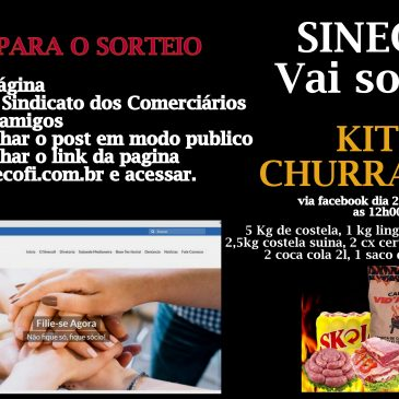 Participe do sorteio de 1 kit churrasco