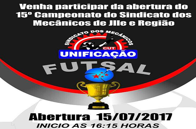 Abertura do 15° Campeonato de Futsal