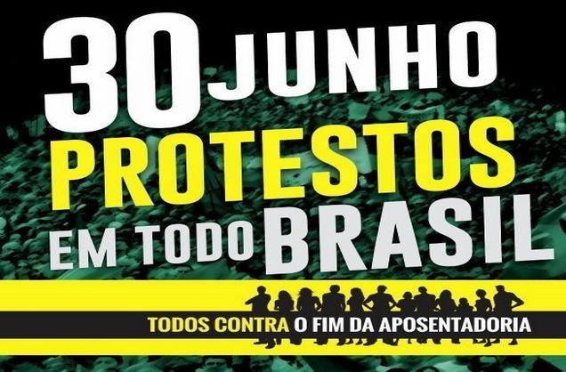 Greve Geral dia 30/06/2017 – contra a Reforma Trabalhista e da Previdência