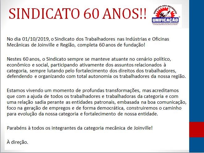 SINDICATO 60 ANOS!!