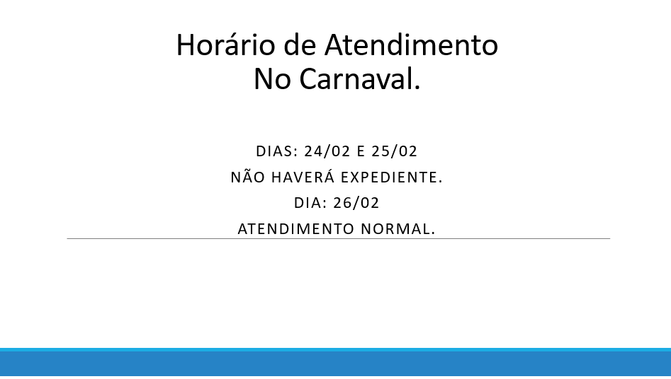 Horário de Expediente no Carnaval