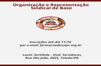 Cipeiros associados ao SINTERC participam de curso de ORSB em Toledo