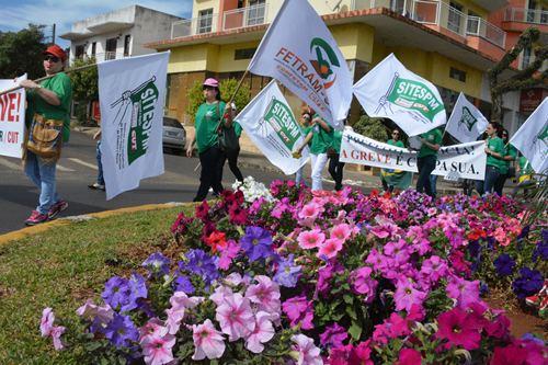 Primeiro dia de greve no município de Xaxim