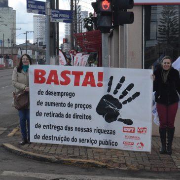DIA DO BASTA é realizado em Chapecó com atos em diversos pontos da cidade