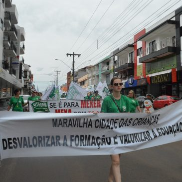 SINDICATO REPUDIA RETIRADA DE DIREITOS E CONCLAMA SERVIDORES PARA A MOBILIZAÇÃO CONTRA AS MALDADES DA PREFEITA ROSIMAR MALDANER (MDB) DE MARAVILHA.