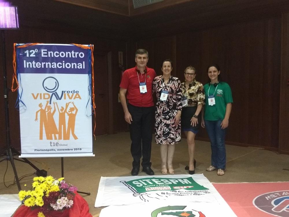 Representantes do SITESPM-CHR participam do 12º Encontro Internacional da Rede Vida Viva