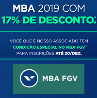 17% descontos. MBA 2019 é na FGV