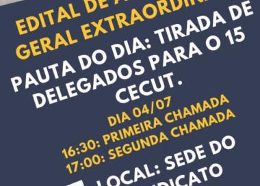 EDITAL DE ASSEMBLEIA GERAL EXTRAORDINÁRIA
