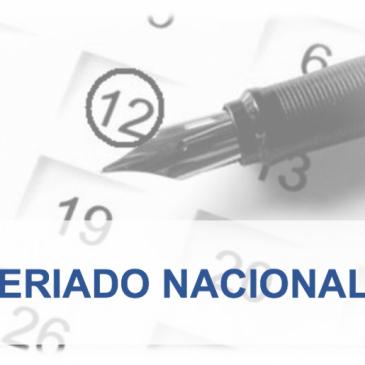 FERIADO DO DIA 12 DE OUTUBRO