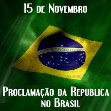 FERIADO DO DIA 15 DE NOVEMBRO