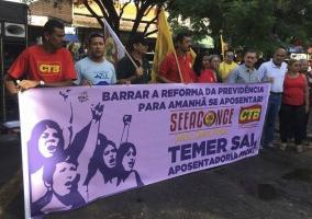 Seeaconce intensifica atos contra reformas golpistas