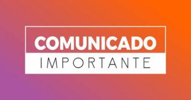 COMUNICADO: NOVO HORÁRIO
