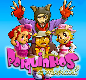 Clubinho de Ofertas - atrações infantis com desconto - Porquinhos - O Musical