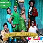 Clubinho de Ofertas - atrações infantis com desconto - Peter Pan e Sininho na Terra do Nunca