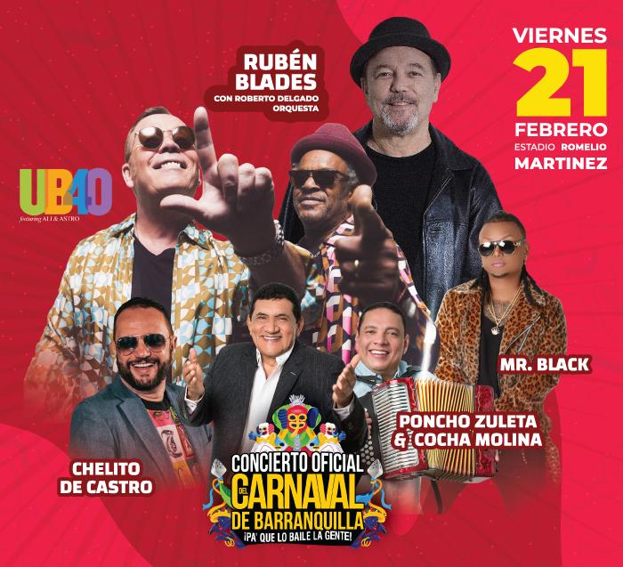 Concierto Oficial del Carnaval de Barranquilla 2020