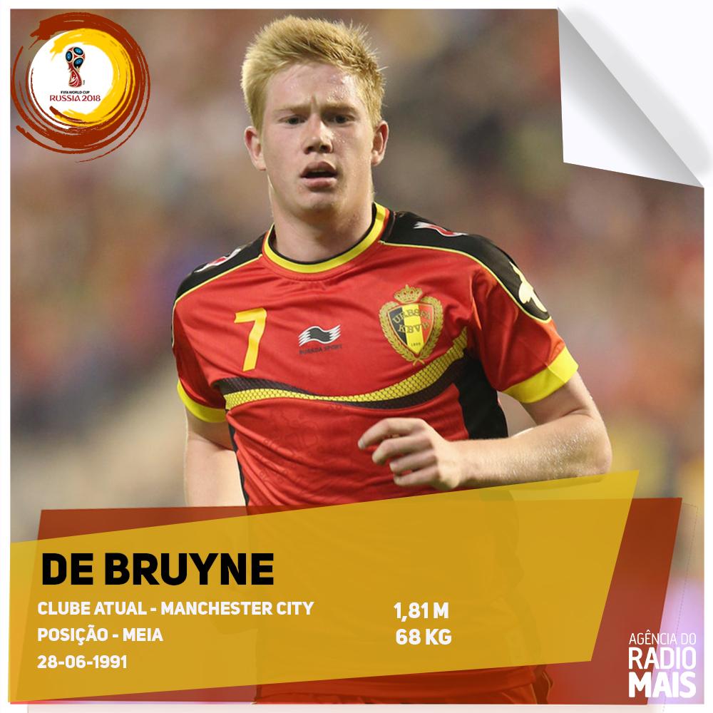O meio-campista do Manchester City será um dos responsáveis por comandar a Bélgica na Copa