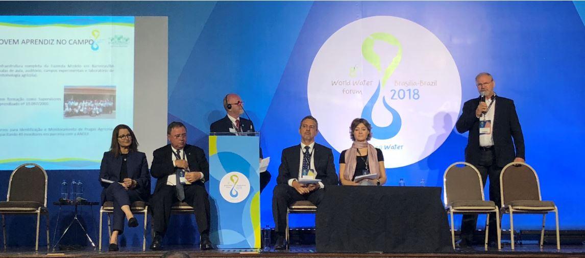 """Durante participação no Fórum Mundial da Água, Blairo Maggi fez questão de explicar que o Brasil é um grande produtor agrícola e """"usa na irrigação muito pouco da água subterrânea ou da água de rios"""""""
