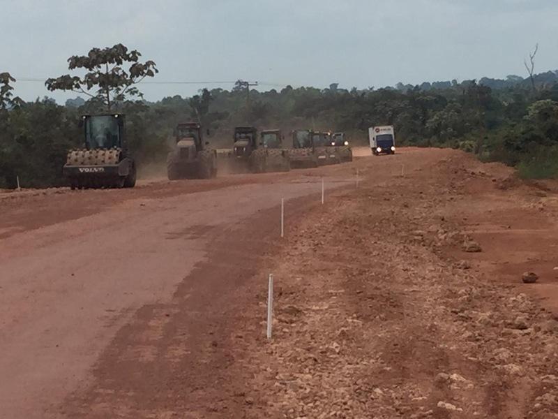 As obras da BR-163 foram retomadas em 2019, no trecho Pará