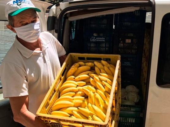 Distribuição de alimentos  Foto: MEC/FNDE