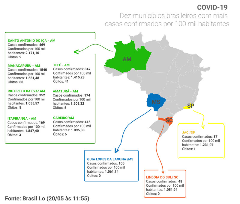 Mapa municípios Imagem: Artes