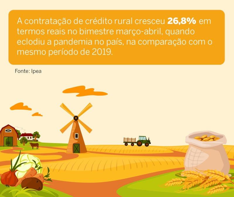 Mesmo com pandemia, PIB agropecuário deve crescer 2,5% em 2020, estima IPEA