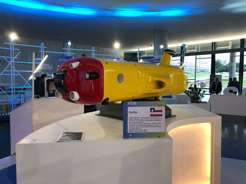 Robô submarino Flatfish, desenvolvido pelo SENAI