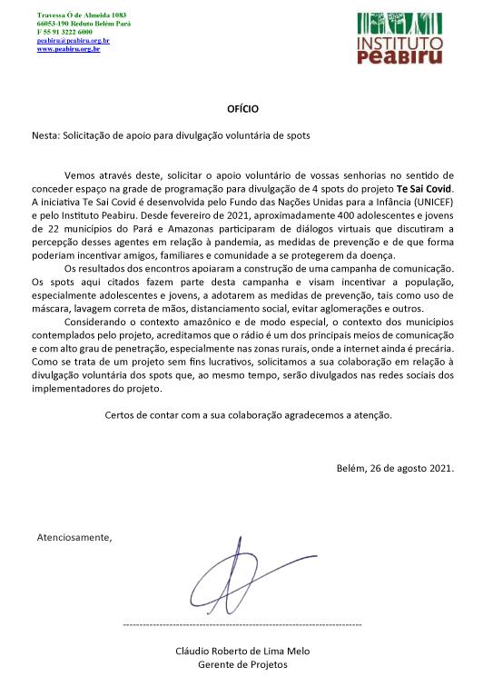 Projeto Te Sai Covid mobiliza jovens de 22 municípios do Pará e Amazonas