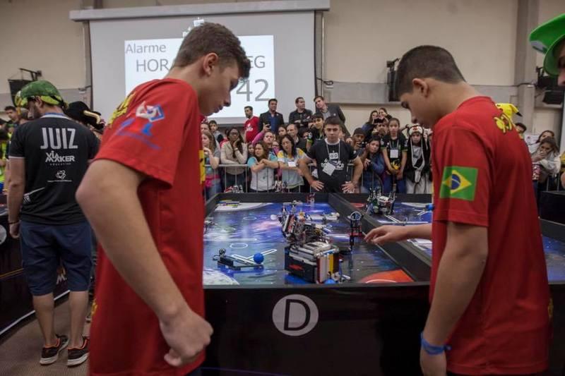 A Bazinga possui 10 anos de história na robótica, e estará mais uma vez no Torneio Nacional SESI da modalidade / Foto: arquivo pessoal
