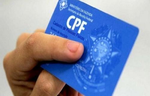 CPF. Foto: Agência Brasil.