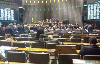 Plenário da Câmara durante votação da MP