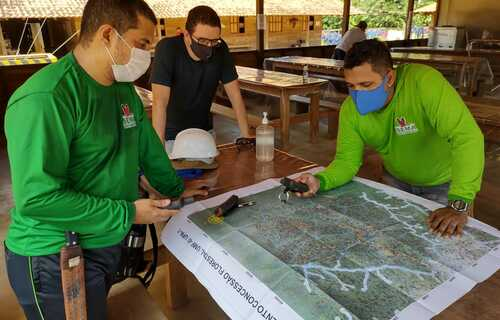 Monitoramento do Contrato de Concessão Florestal. Foto: Secretaria de Estado de Meio Ambiente do Amapá