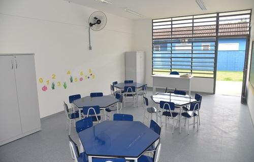 Ventilação escola - Foto: Prefeitura Caraguatatuba-SP