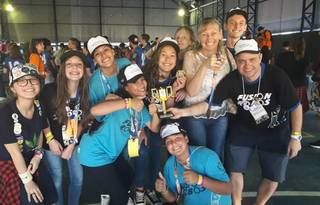 Equipe Fusion Robôs após classificação para a etapa nacional, nas regionais | Foto: Acervo pessoal