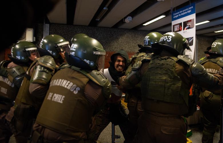 Foto: Daniel Barahona/Facebook da Federação de Estudantes da Universidade do Chile