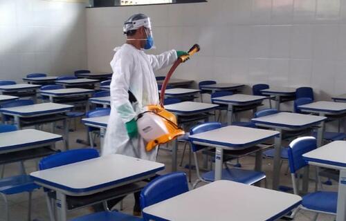 Limpeza escola - Foto: Agência Pará