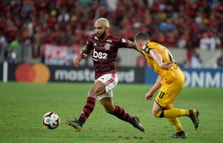 Gabigol foi expulso antes do Flamengo levar gol do Peñarol / Foto: reprodução Flamengo