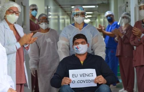 Paciente recuperado do Covid. Foto: Divulgação.