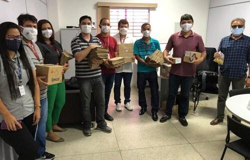 Distribuição dos equipamentos na Universidade Federal do Maranhão. Foto: Governo Federal