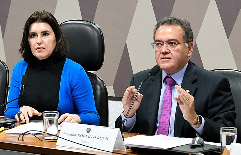 Senadores Simone Tebet e Roberto Rocha - Foto: Jefferson Rudy / Agência Senado