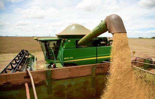 Colheita de soja. Foto: Divulgação Famasul