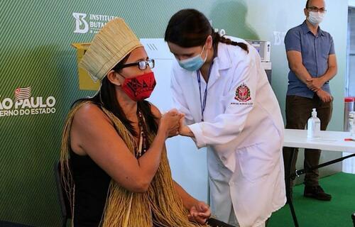 Vacinação de indígenas: Governo de SP/Divulgação