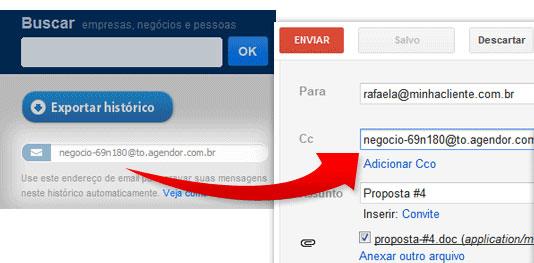Copiando o Email de Negócio