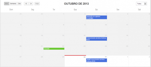 Tarefas centralizadas no calendário e históricos de contatos