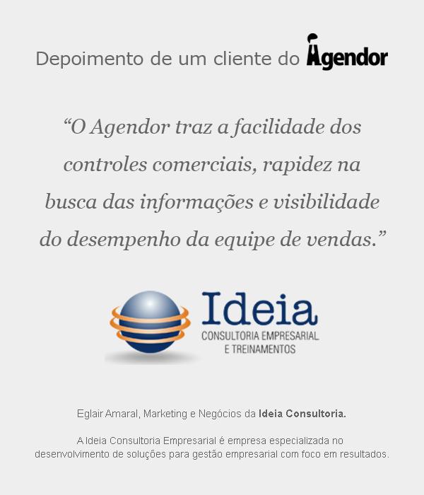 Depoimento de um cliente do Agendor: Ideia Consultoria.