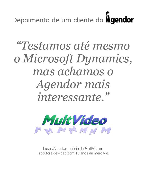 Depoimento do cliente do Agendor: MultVideo.
